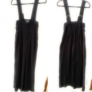 Nasty Gal Black Overall Jumpsuit